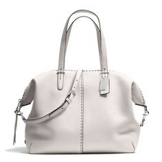 The Bleecker Large Cooper Satchel In Stitched Pebbled Leather from Coach Cheap Coach Purse Handbags Coach Handbags, Coach Purses, Tote Handbags, Purses And Handbags, Handbag Accessories, Women Accessories, Cheap Coach Bags, Tote Backpack, Satchel Bag