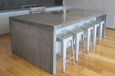Concrete Studio - Handmade concrete bench tops and basins. Nationwide delivery.