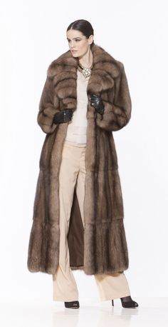 Braschi Tortora Sable Fur Coat