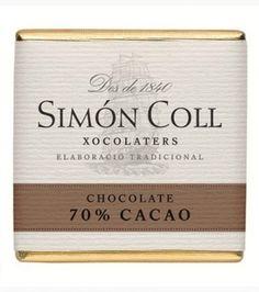 SIMON COLL 70% Cocoa Dark Chocolate Napolitans   Spanish Chocolate   Gourmet Food - SPANISH SHOP ONLINE   Spain @ your fingertips