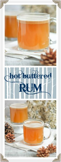 HOT BUTTERED RUM IS WARMLY SPICED AND SOOTHING ON A COLD WINTER'S DAY.