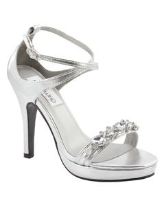 Satin Jeweled Front Strap Dyeables Prom Formal Shoes Lilac ...