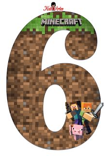 Minecraft Letters and numbers Minecraft Party Decorations, Minecraft Cupcakes, Minecraft Birthday Cake, Minecraft Banners, Minecraft Crafts, Lego Minecraft, Free Minecraft Printables, Minecraft Skins, Minecraft Buildings