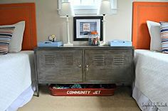 Faux Aged Steel Ikea Cabinet Inspired By Restoration Hardware. tutorial for how to do a faux aged steel paint finish on an Ikea PS cabinet was the most-viewed post for last year....