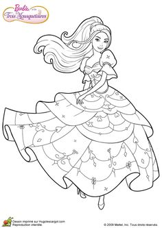 Barbie and Three Musketeers. Barbie coloring page.200