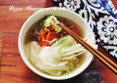 Vegan Korean Cold Noodle Soup (Naengmyun)