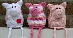 Het is tijd voor een FEESTJE! Ondertussen zijn er al meer dan 700 volgers op mijn blog. Het worden er steeds meer, niet te geloven! ... Crochet Pig, Crochet Animal Amigurumi, Crochet Amigurumi Free Patterns, Crochet Baby Hats, Crochet Animals, Irish Crochet, Crochet Braids Hairstyles, Crochet For Beginners, Crochet Projects