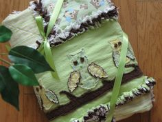 @Whenwillyou Hoage Baby Rag Quilt Boy with Owls