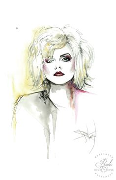 """""""Debbie Harry of Blondie"""" by Therése Rosier - Limited Edition, Fine Art Print"""