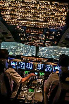 Uçak kokpit #aviationpilotcommercial