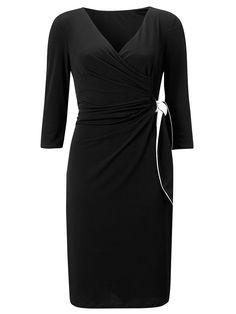 Buy COLLECTION by John Lewis Wrap Jersey Dress, Black online at JohnLewis.com - John Lewis
