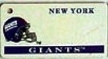 """This is an NFL New York Giants Team License Plate Key Chain or Tag. An excellent and affordable gift for an avid NFL fan! The key chain is available with engraving or without engraving. It is a standard key chain made of durable plastic and size is approximately 1.13"""" x 2.25"""" and 1/16"""" thick."""