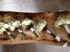 Avalanche roses, gyp and pearl bouquets, perfect for vintage weddings, #weddingflowersshropshire www?tmsevents.co.uk