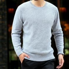 dc2515f93bb New Fashion Casual Cashmere Wool Sweater Men Pullovers Winter Autumn Cable- knit Thicken Long Sleeve