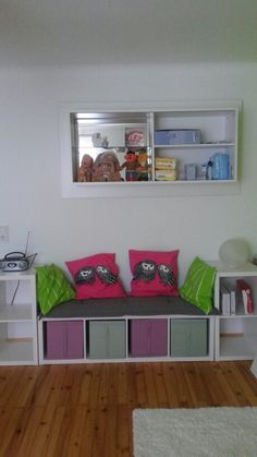 ikea hack the kallax bookshelf makes a great reading nook for the kids mum 39 s grapevine. Black Bedroom Furniture Sets. Home Design Ideas