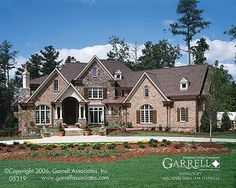 Lansdale Manor House Plan 04193, Front Elevation, European Manor ...