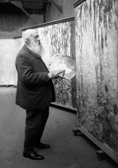 """Colour is my day-long obsession, joy and torment."" - Claude Monet    Claude Monet in his atelier"