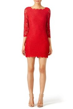 New Year's Eve dress | Party Dress | Cocktail Dress | NYE outfit | Red Dress | DVF