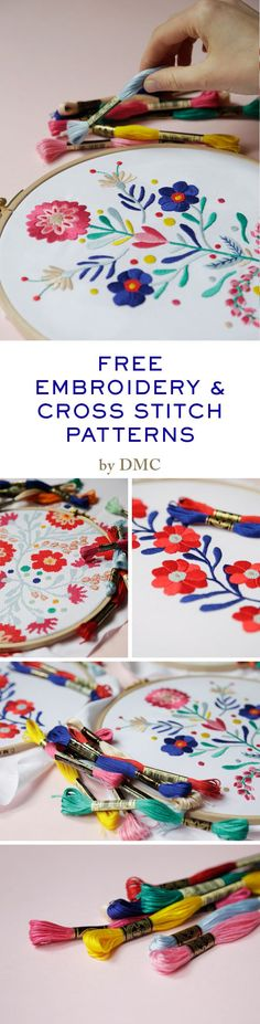 Free embroidery patterns on the website