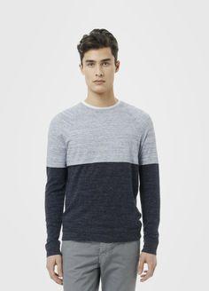 Vince  Cashmere Blend Colorblock Crew Neck Sweater