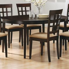 $250 Coaster Fine Furniture 100770 Mix & Match Dining Table