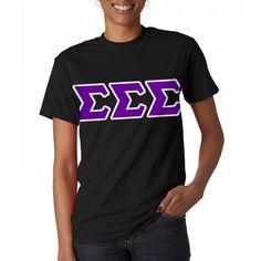 Sigma Sigma Sigma Sorority Letter T-Shirt $15.99