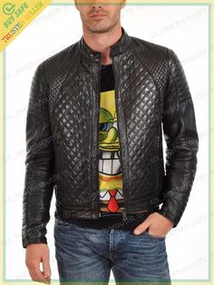 Looking for Men's Stylish Genuine Lambskin Motorcycle Biker Leather Jacket 53 ? Check out our picks for the Men's Stylish Genuine Lambskin Motorcycle Biker Leather Jacket 53 from the popular stores - all in one. Lambskin Leather Jacket, Biker Leather, Leather Men, Leather Jackets, Black Leather, Leather Coats, Motorcycle Leather, Quilted Jacket, Quilted Leather