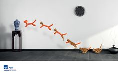The Print Ad titled Cat was done by DDB Singapore advertising agency for Axa Insurance in Singapore. Interior Design Trends, Insurance Ads, Lion Cat, Ad Of The World, Great Ads, Creative Advertising, Advertising Design, Painting For Kids, Art Direction