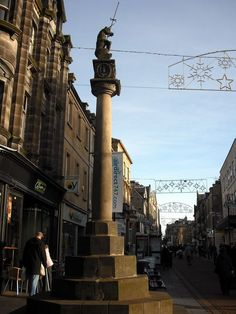 The Mercat cross with a unicorn atop, Dunfermline, Fife