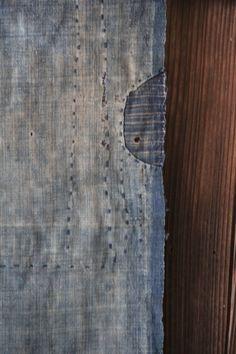 Vintage Japanese sashiko stitched indigo boro by oldindustrial12