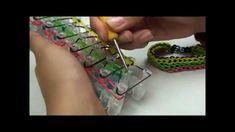 Tutorial: Triple Single Rubberband Bracelet using the Rainbow Loom.