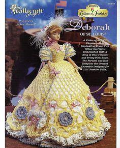 Ladies of FashionDeborah of St. Louis Fashion Doll Crochet Pattern The Needlecraft Shop 972510.