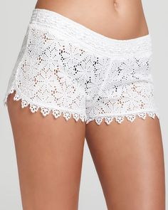 OndadeMar Coverup Shorts - Embroidered Cotton Swim | Bloomingdale's