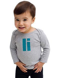 Helvetica Alphabet Infant Long Sleeve Lap T-Shirt