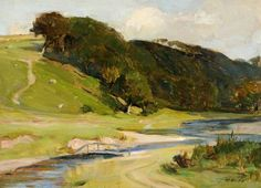 Robert Hope - Stream in Galloway Abstract Landscape Painting, Landscape Art, Landscape Paintings, Paintings I Love, Your Paintings, Irish Painters, Art Uk, People Art, Pretty Pictures