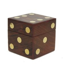 Stocking Stuffers Under 40 Dollars: Wooden Dice Box by Furbish