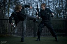 Leon S.Kennedy vs Albert Wesker Cosplay RE Saga by LeonChiroCosplayArt on deviantART