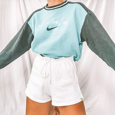 Cute Lazy Outfits, Trendy Summer Outfits, Simple Outfits, Stylish Outfits, Teen Fashion Outfits, Retro Outfits, Outfits For Teens, Mode Vintage, Vintage Nike