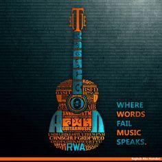 Guitar Typography by ~ragheb-abuhamdan on deviantART