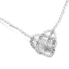 Crocheted Silver Wire Necklace. Love it!