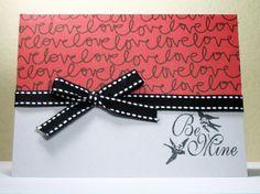 Handmade Valentine Card Be Mine by MissTanDesigns on Etsy, $3.00