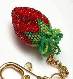 Strawberry bead crochet