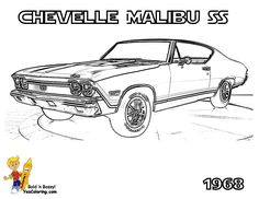 1964 chevrolet impala car coloring at yescoloring