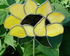 Items Similar To Spoon Sunflower Garden Stake On Etsy