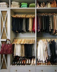 New Year's Organization, Take 3! beautifully organized closet