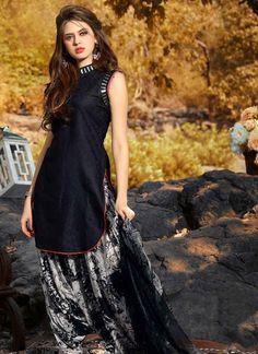 Black and Cream Cotton Jacquard Patiala Suit Patiala Dress, Punjabi Dress, Patiala Suit, Salwar Kameez, Punjabi Suits, Salwar Suits, Patiala Salwar, Stylish Dresses, Nice Dresses