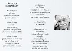 """Poesías, Frases, y Pensamiento Libre: """"Táctica y Estrategia"""" Mario Benedetti"""