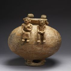 Olla with Annular Base and Modeled Figures Ppr, Archaeology, Antiques, Base, Baltimore, Character Design, Pottery, American, Couples