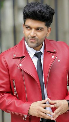 Guru Pics, Red Leather, Leather Jacket, In A Heartbeat, My Dream, Superstar, Singer, Dreams, Jackets