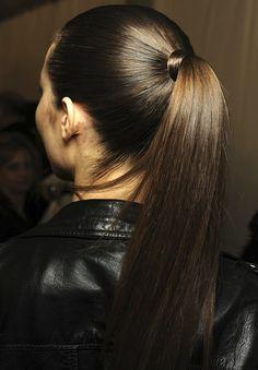 sleek, shiny pony. wish i'd never cut these damn bangs.